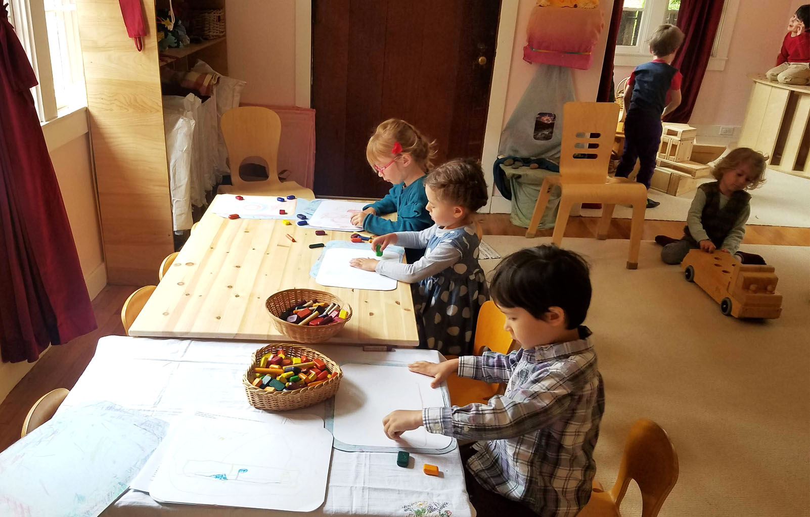 Nursery Campers drawing and playing