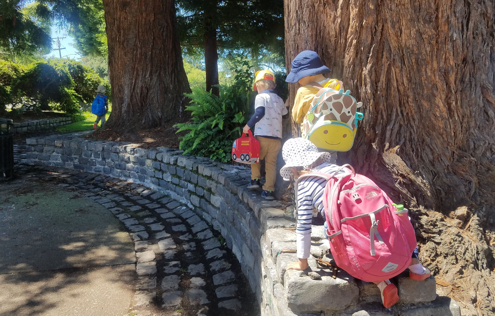 Nursery Campers during their daily walks