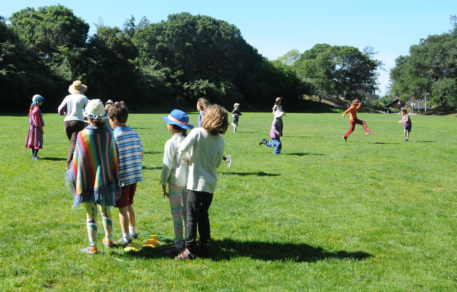 Grade Campers playing games on a field