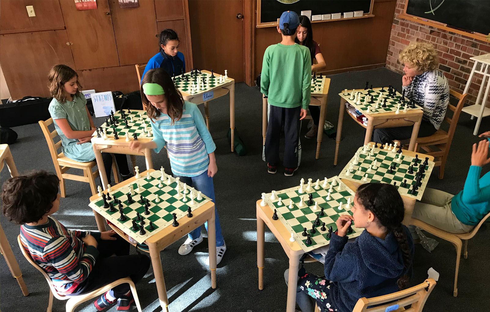 Students during our Chess Enrichment Program