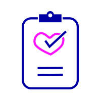 Image of clipboard with heart