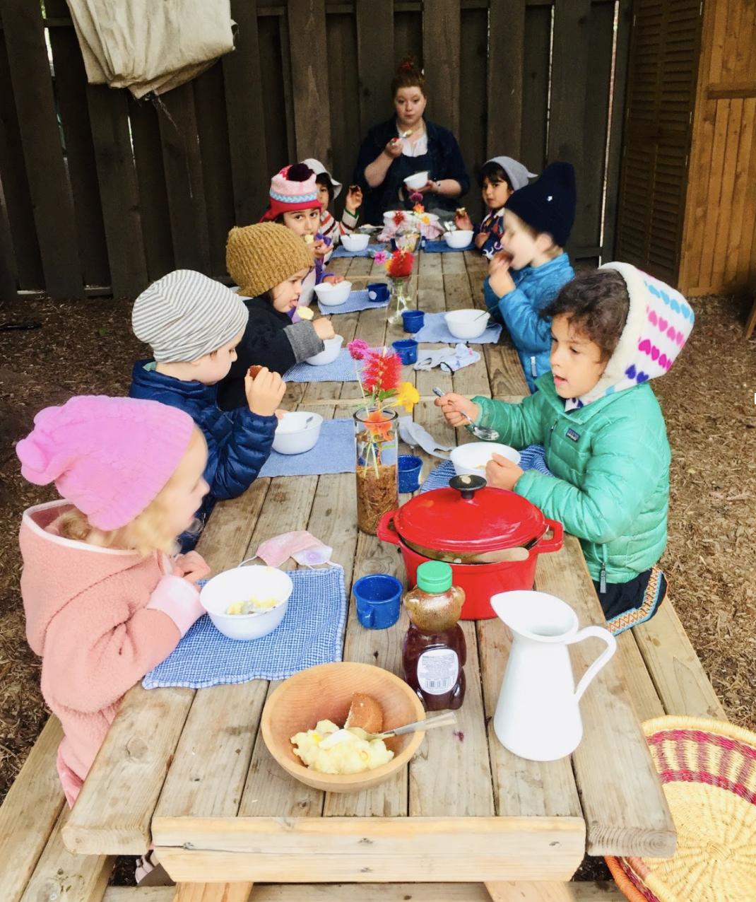 Nursery children share Haval for Edi